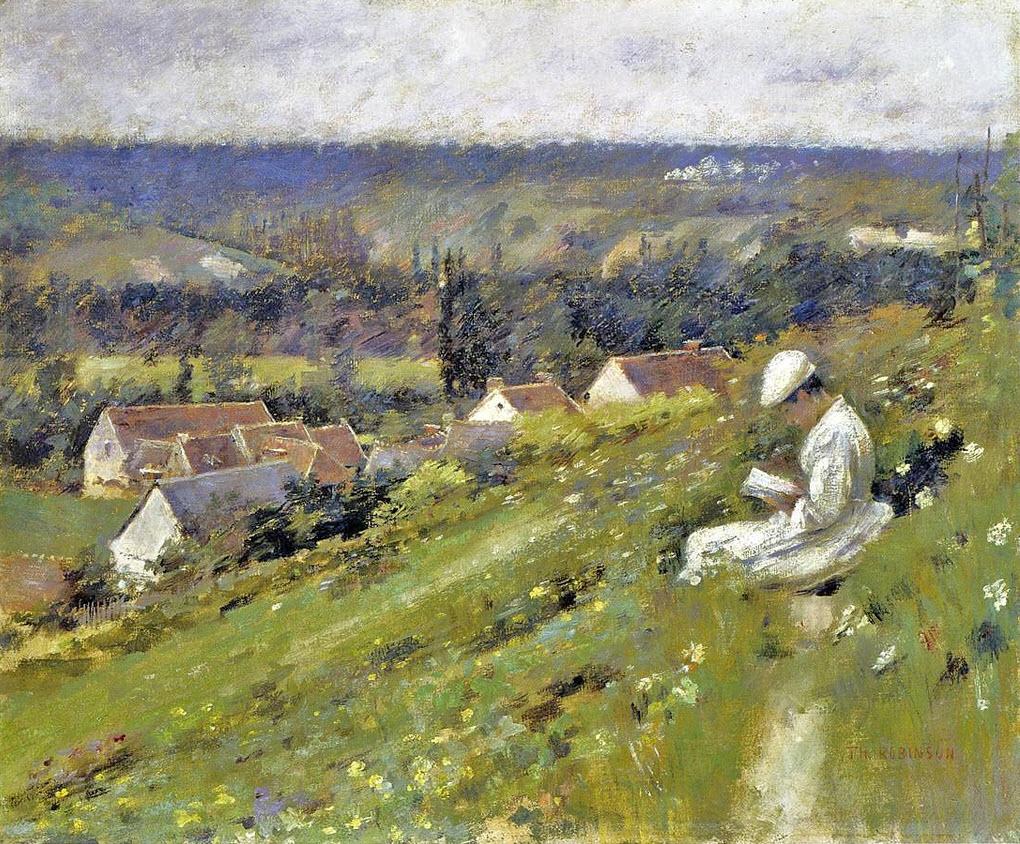 Arconville, gemalt von dem amerikanischen Impressionisten Theodore Robinson (1852 -1895)